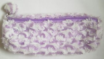 Lilac Fluffy Pencil Case School Home Office